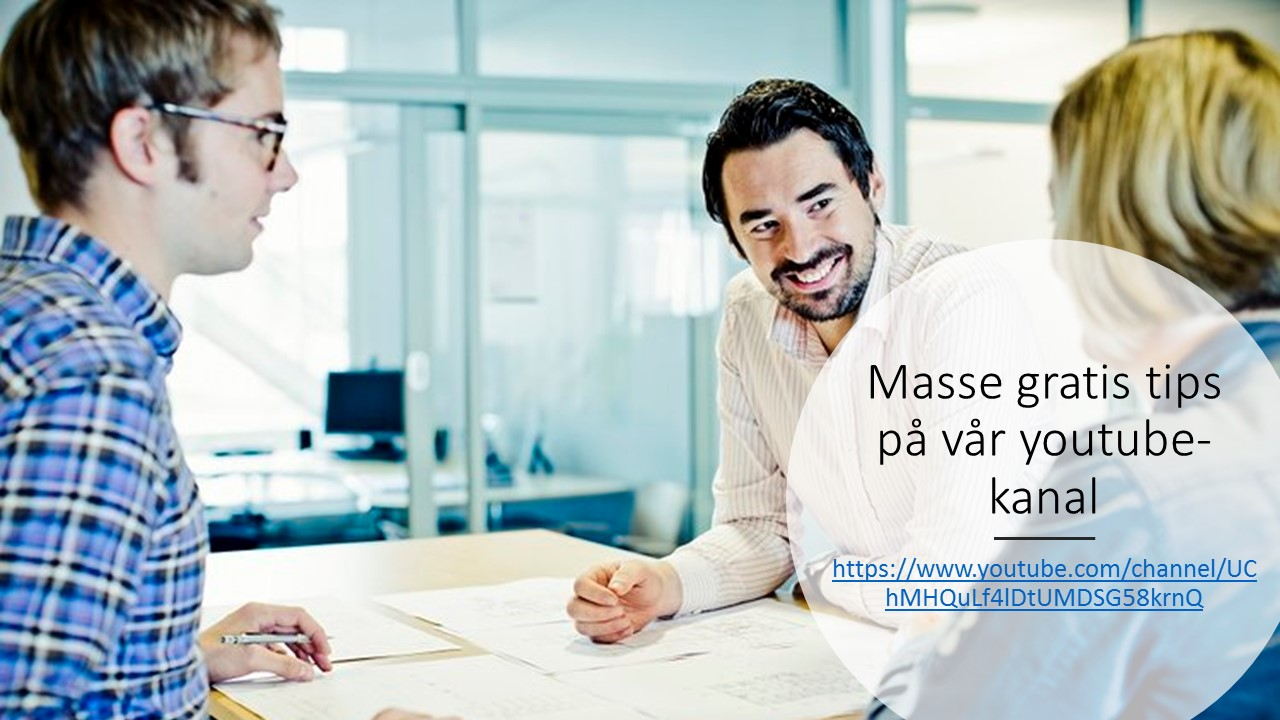Masse gratis tips på vår youtube-kanal